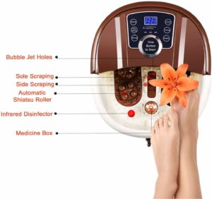 Guisee Foot Spa Bath Massager: Overall Best for Swollen Feet